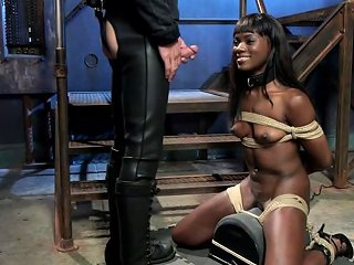 Ebony On Sybian Made To Suck Huge Dick Porn Videos